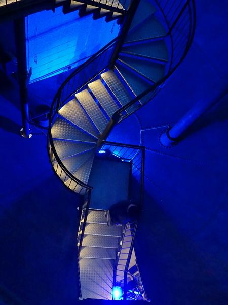 In Inneren des Wasserturms